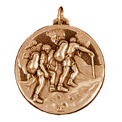 Gold Walking Medal 2in