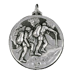Silver Walking Medals 1.5in