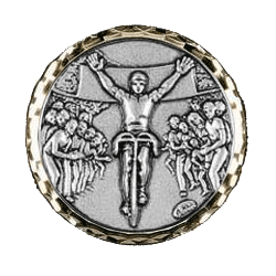 Silver Cycling Race Medal