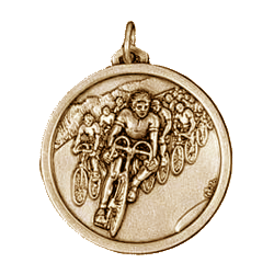 Gold Cycling Peloton Medal 56mm