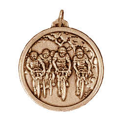 Gold Bicycle Race Medals