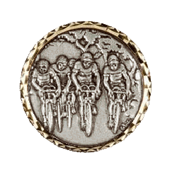 Silver Bicycle Race Medals