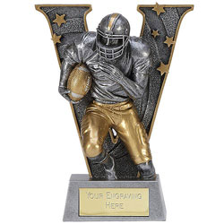 V Series American Football Trophy 7in