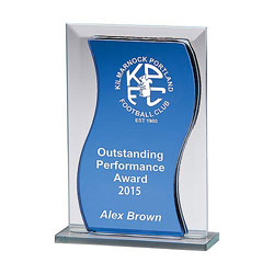Azzuri Wave Mirror Glass Award 125mm
