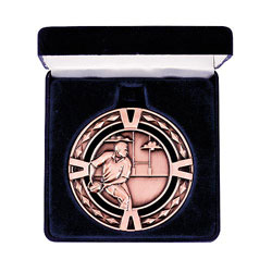 Rugby V-Series Medal & Box Bronze 60mm
