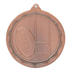 Economy Rugby Medal Bronze 50mm
